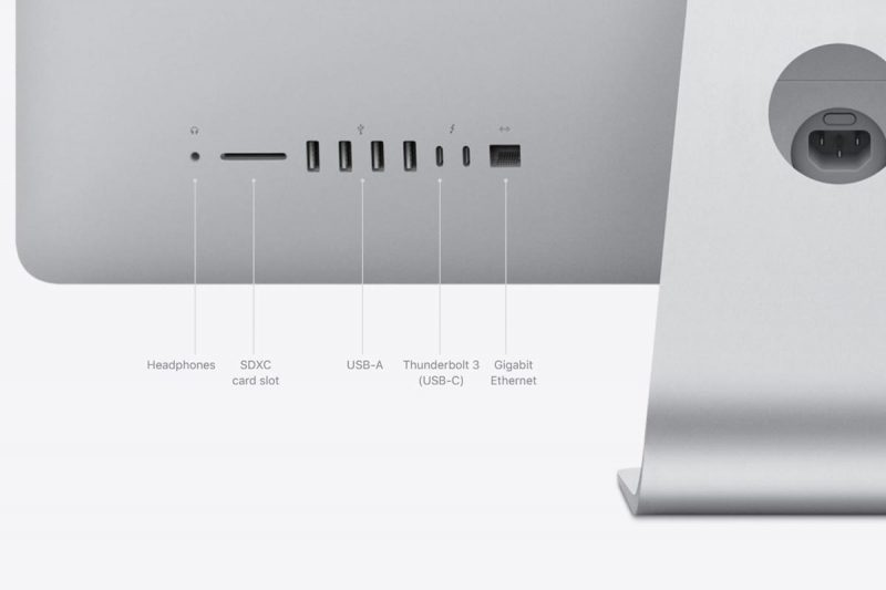 Connections on iMac