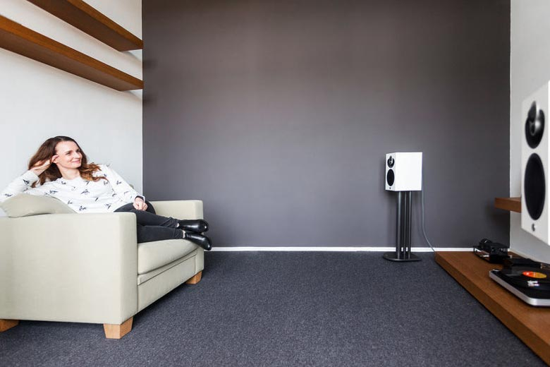 Speaker placement in small room