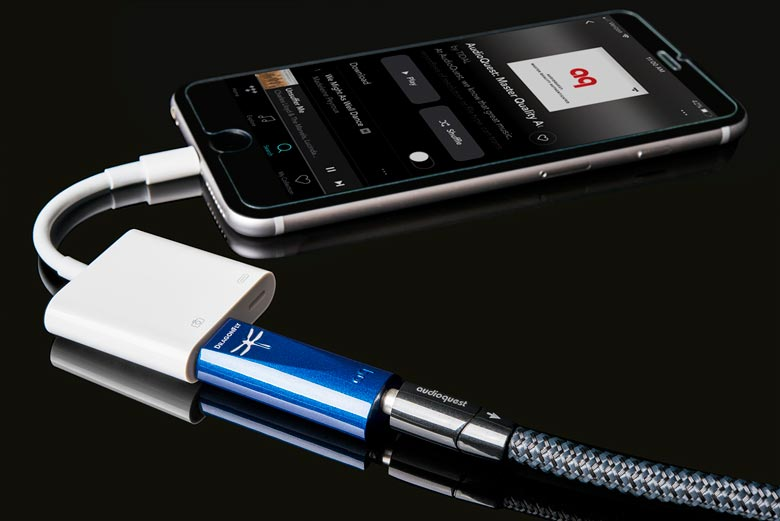 Using a DAC from AudioQuest with an iPhone